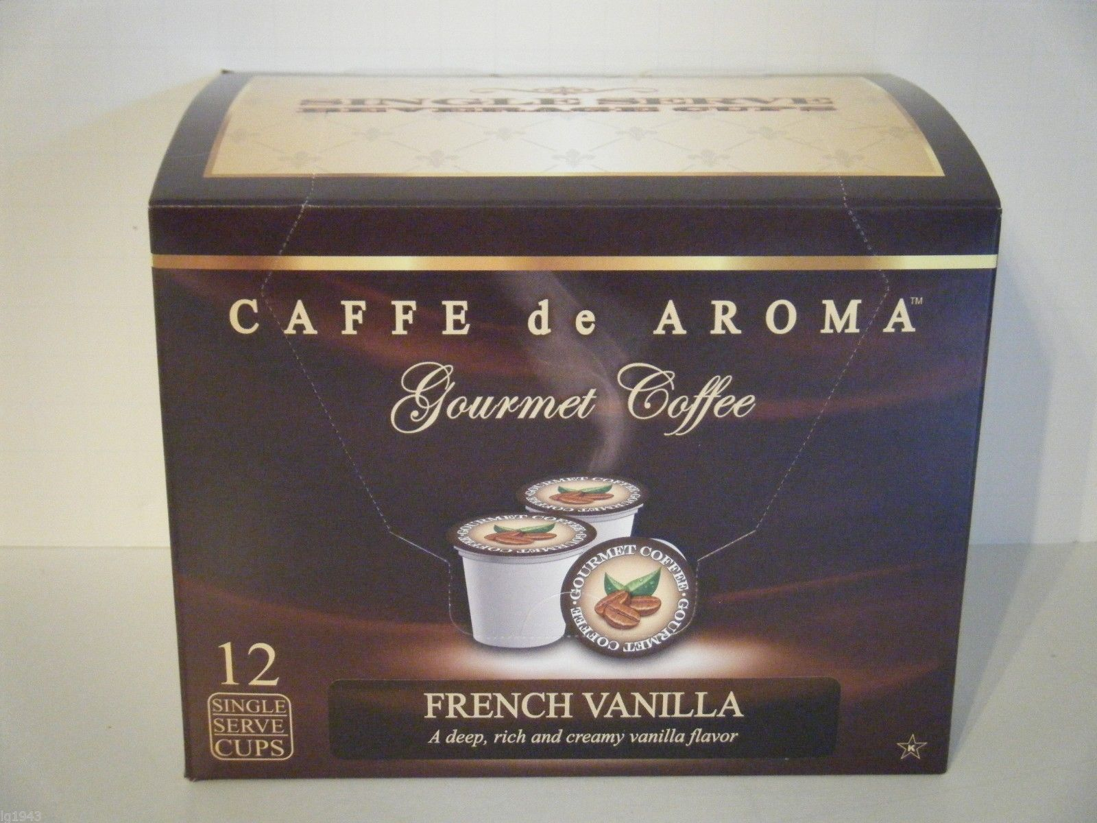 Lenier's French Vanilla 12 Single Serve K-Cups Free Shipping
