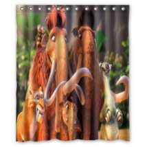 Ice Age #1 Shower Curtain Waterproof Made From Polyester - $29.07+