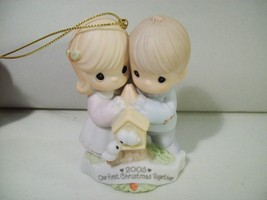 PRECIOUS MOMENTS OUR FIRST CHRISTMAS TOGETHER 2005 PORCELAIN ORNAMENT #4... - $15.63