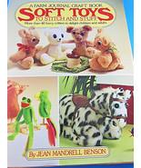 Jean Benson Soft Toys pattern book plush bear fox unicorn frog cat dolls... - $9.25