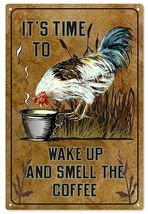 Vintage Country It's Time To Wake Up And Smell The Coffee Sign - $25.74