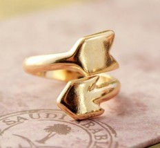 Double Arrowhead Vintage Alloying Cocktail Ring - $5.99