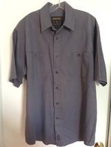 Woolrich Short Sleeve Cotton Button Down Shirt L Purple C5 - $7.91