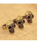 Vintage Skull Double-finger Knuckle Ring - $5.99
