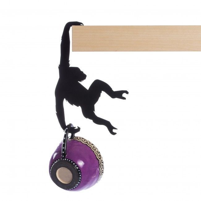 Home Original Design Gifts Decorative monkey Metal hanger flower pot bag keys &?