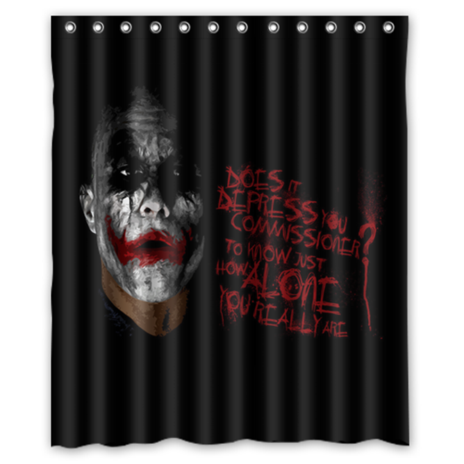Joker #03 Shower Curtain Waterproof Made From Polyester