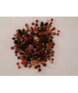 Glass Bead Lot Brown 3 ounces - $2.59