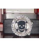 Pre Owned Rotating Skull Rhinestone Belt Buckle - $5.94