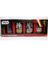 Star Wars Force Awakens 8 oz 4-pk glasses set S... - $14.95