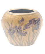 Champlevé Oval Brass Vase Made in India - $13.99