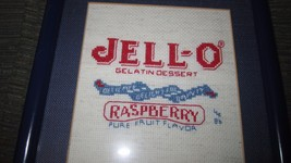 Vintage Jell-o Raspberry Label Cross Stitch Pi... - $12.19