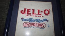 Vintage Jell-o Raspberry Label Cross Stitch Pic... - $12.19