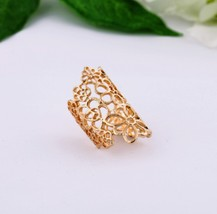 Vintage Stylish Floral Cutout Cocktail Ring Set for Women(Gold) - $5.99