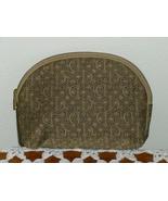 Christian Dior Canvas Logo Zipper Coin Clutch Cosmetic Bag Purse   - $39.97