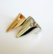 Unisex Stylish Punk Style Sharp Triangle Ring( Gold ) - $5.99