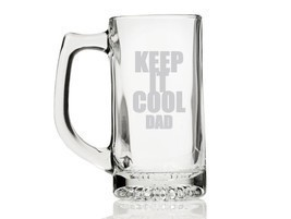 Keep it Cool Dad Engraved Glass Beer Mug - $12.95