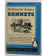 The Penguin Book of Sonnets Poetry Anthology 1557 to 1943 - $4.99