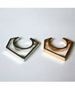 Stylish Unisex Rock Cutout Triangle Metal Ring(Color:Gold /Silver ) - $5.99
