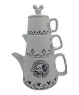 Disney Parks Mickey Original Pattern Ceramic Teapot, Creamer, Sugar Stacker - $68.59
