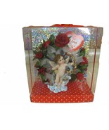 GIFT WITH FLOWERS  WITH AN ANGEL - $12.19