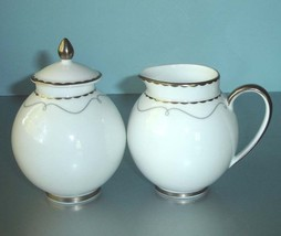 Waterford Marc Jacobs Colette Sugar Bowl & Creamer 2 Piece Made in England New - $59.90