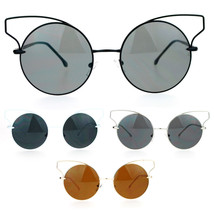 SA106 Metal Wire Cat Eye Horn Rim Round Circle Lens Sunglasses - $12.95