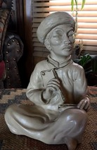 Vintage 1958  Universal Statuary Corp Chicago Asian Man Writing on Table... - $15.00