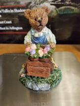 Figurine Bear push Flower Cart 5 in  - $5.86