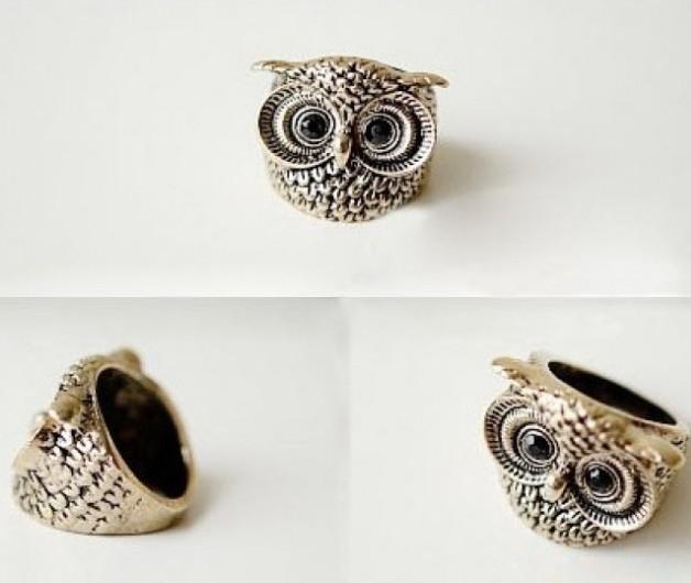 Lovely Vintage Owl Cocktail Ring - $5.99