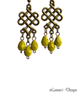 Apple Green Teardrop Chandelier Earrings - $11.90+