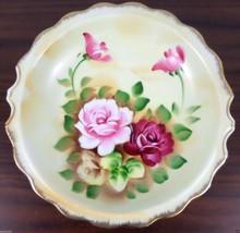 Vintage Japanese Porcelain Hand Painted Rose Fl... - $15.99