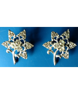 Vintage Jewelry Broaches Rhinestone Star Flower Pin Back Silver Tone Set... - $49.99