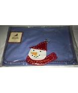 Baby's First Christmas Bib Burp Cloth Snowman from Pottery Barn Kids NWT... - $19.79