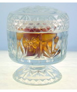 Vintage Fostoria Avon clear glass footed lidded... - $12.00