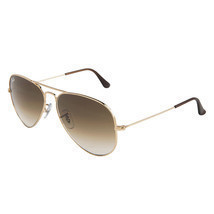 Ray-Ban Aviator RB 3025 001/51 Gold/ Gradient Brown 58mm 100% New & Auth... - $94.99