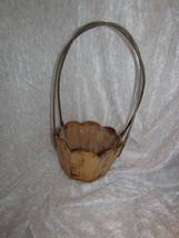 """wooden basket, octagon base - 5"""" deep, 16.5"""" tall - $5.00"""