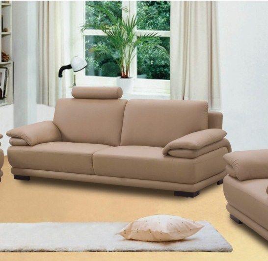 BH Rhythm Living Room Sofa Set 2pc. Top Grain Leather Contemporary Style