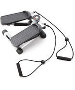 Mini Stepper W/ Resistance Cords Fitness Sport Calorie Burner Exercise W... - €41,88 EUR