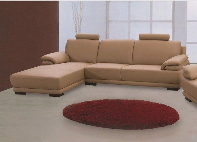 BH Rhythm Leather Sectional Sofa Left Hand Facing Contemporary Top Grain Leather