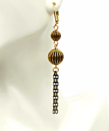 Black Gold Tassel Dangling Earrings - $17.90+