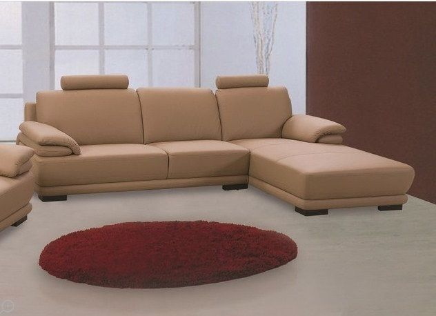 BH Rhythm Leather Sectional Sofa Right Facing Contemporary Top Grain Leather