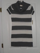 Bobbie Brooks Sweater Dress Size S Gray / White Nwt - $22.79