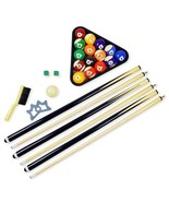 Billiard Pool Table Accessory Set Balls Kit Cue... - $122.53