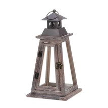 Elevate Wooden Candle Lantern - $32.00