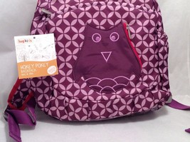 Adorable New With Tags NWT Lug Kids Hokey Pokey Backpack Plum Purple Owl