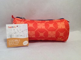 Adorable New With Tags NWT Lug Kids Scribble Pencil Case Sunset Orange - $13.85