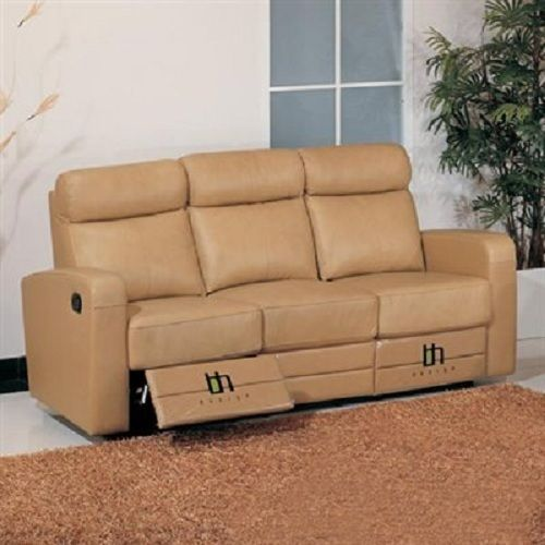 BH Slope Brown Living Room Sofa Set 3pc. Top Grain Leather Contemporary Style