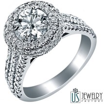 ROUND EXCELLENT CUT DIAMOND ENGAGEMENT RING 18K WHITE GOLD 2.25CT (1.10)... - €3.887,50 EUR