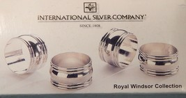 Silver Plated Napkin Rings Set of 4 By International Silver Company 2-inch NIB - $22.03