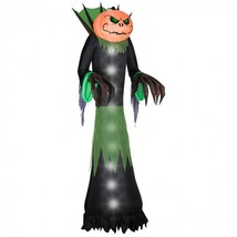 Outdoor Halloween Decorations Pumpkin Head Reaper Accessories Decor Items - $317.99